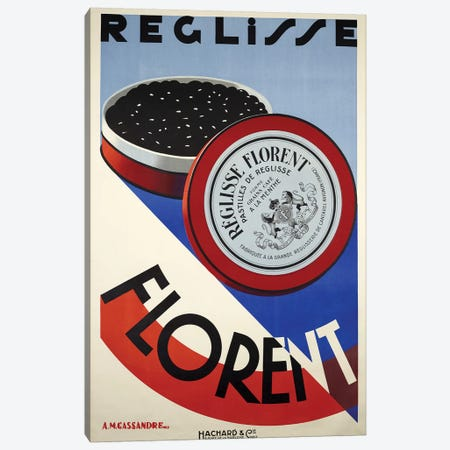 Reglisse Florent Chocolates Canvas Print #VAC1947} by Vintage Apple Collection Art Print