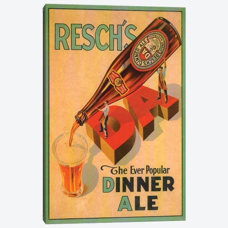 Resch's Dinner Ale Canvas Print #VAC1949} by Vintage Apple Collection Canvas Art