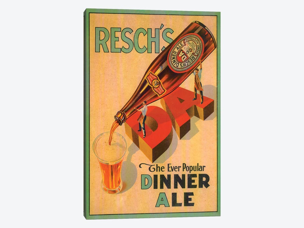 Resch's Dinner Ale by Vintage Apple Collection 1-piece Canvas Art Print