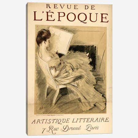 Revue de l'Epoch Canvas Print #VAC1951} by Vintage Apple Collection Art Print