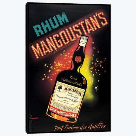 Rhum Mangoustan's Canvas Print #VAC1953} by Vintage Apple Collection Art Print