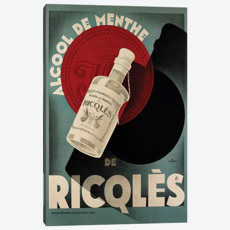 Ricqlès Menthe Canvas Print #VAC1954} by Vintage Apple Collection Canvas Artwork