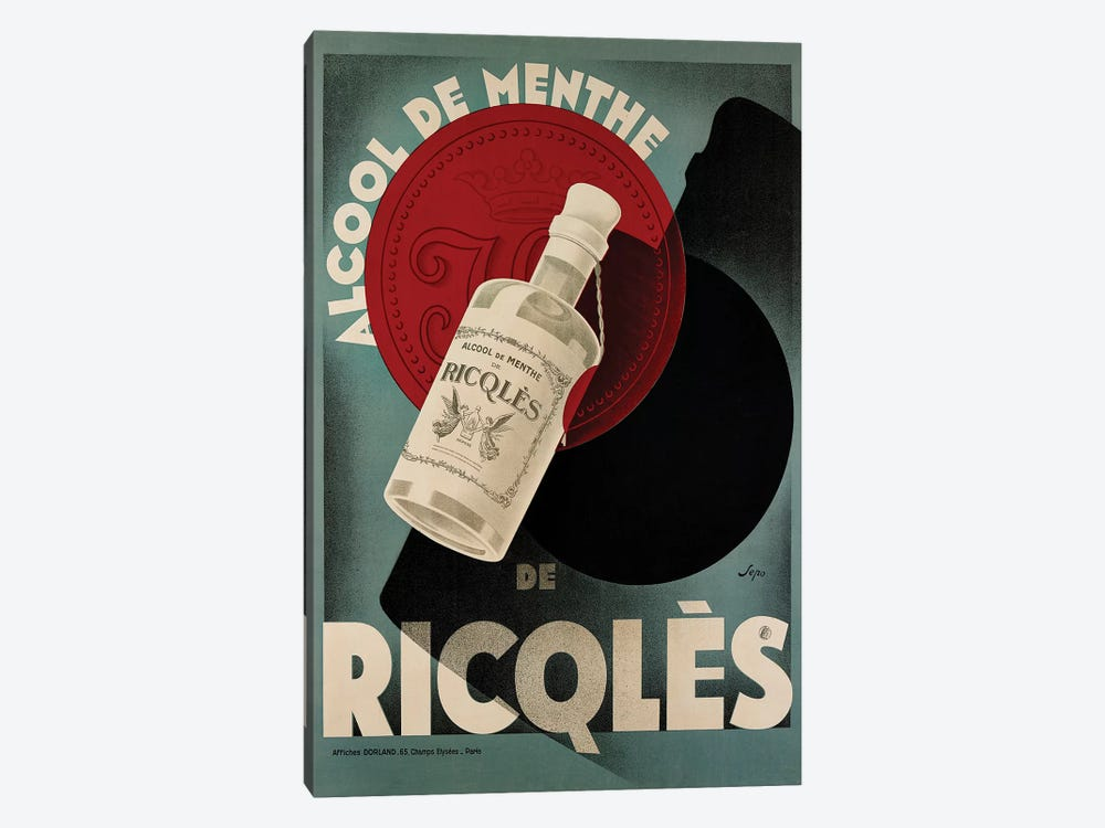 Ricqlès Menthe by Vintage Apple Collection 1-piece Canvas Print