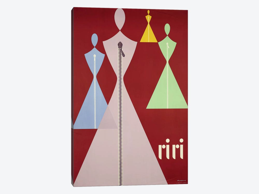 Riri Women's Fashions by Vintage Apple Collection 1-piece Canvas Wall Art