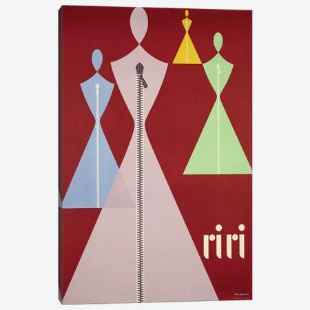 Riri Women's Fashions 3-Piece Canvas #VAC1955} by Vintage Apple Collection Canvas Artwork