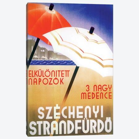Russian Umbrellas Canvas Print #VAC1961} by Vintage Apple Collection Canvas Artwork