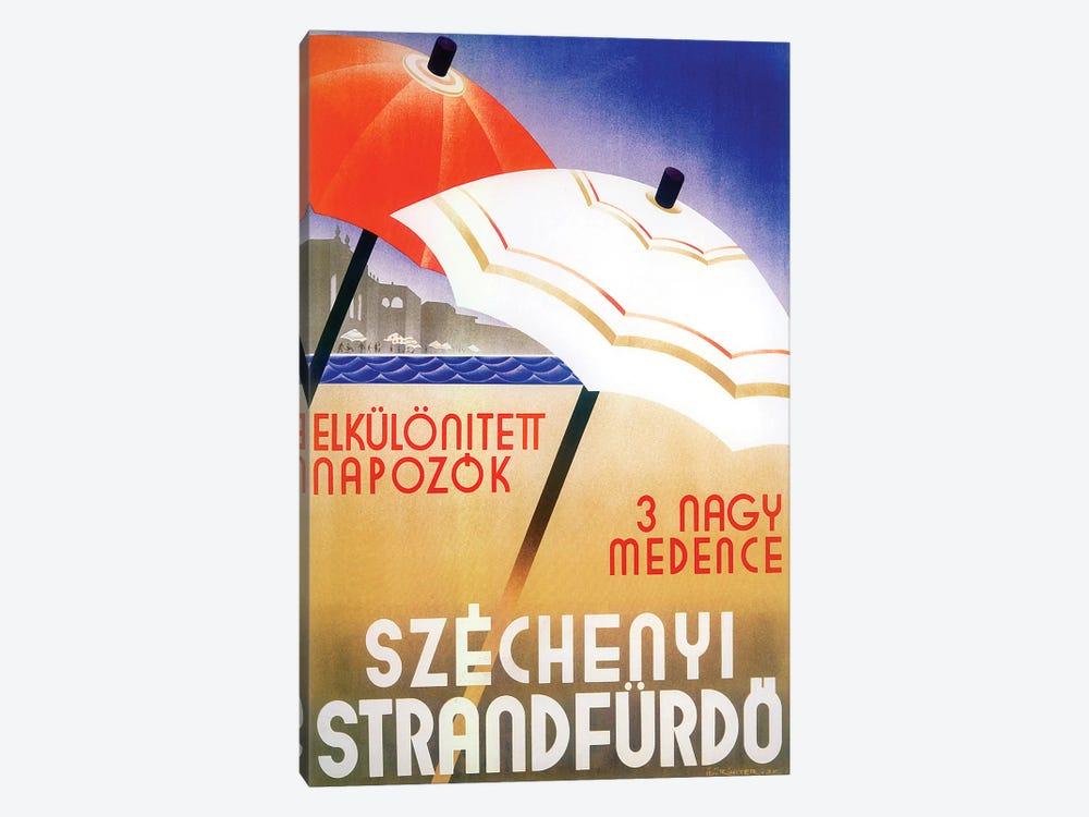 Russian Umbrellas by Vintage Apple Collection 1-piece Canvas Art Print