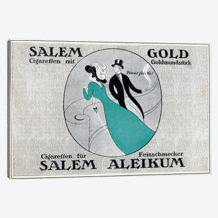 Salem Gold Cigaretten Canvas Print #VAC1964} by Vintage Apple Collection Art Print