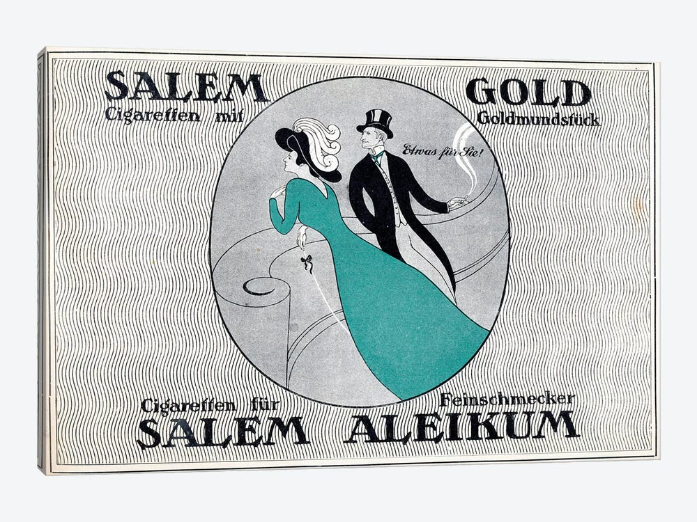 Salem Gold Cigaretten 1-piece Canvas Artwork