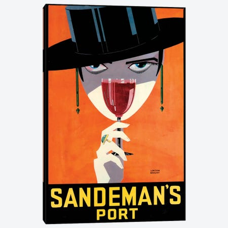 Sandeman's Port Canvas Print #VAC1969} by Vintage Apple Collection Canvas Wall Art