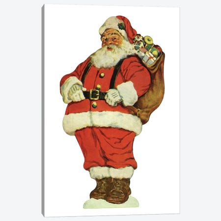 Santa I Canvas Print #VAC1971} by Vintage Apple Collection Canvas Art Print