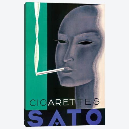 Sato Cigarettes Canvas Print #VAC1976} by Vintage Apple Collection Canvas Wall Art