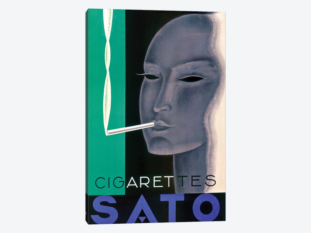 Sato Cigarettes by Vintage Apple Collection 1-piece Canvas Print