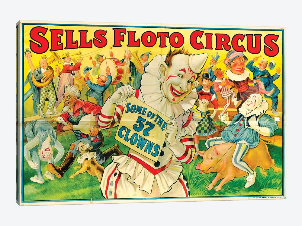 Sells Floto Circus Poster, 1922 by Vintage Apple Collection 1-piece Canvas Art