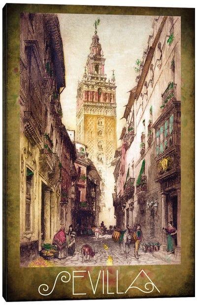 Sevilla Street Scene Canvas Art Print