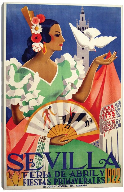 Sevilla, 1922 Canvas Art Print