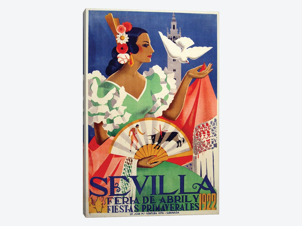 Sevilla, 1922 by Vintage Apple Collection 1-piece Art Print