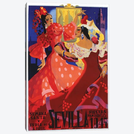 Sevilla, 1945 Canvas Print #VAC1991} by Vintage Apple Collection Canvas Art Print