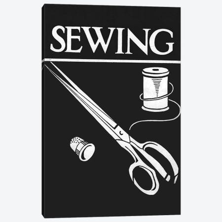 Sewing Canvas Print #VAC1993} by Vintage Apple Collection Art Print