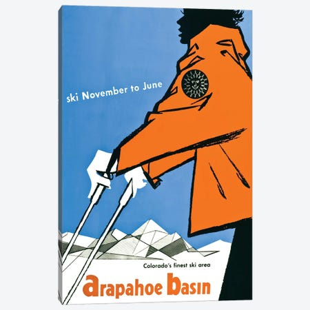 Ski Arapahoe Basin Colorado Canvas Print #VAC1999} by Vintage Apple Collection Canvas Print