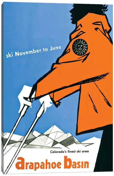 Ski Arapahoe Basin Colorado Canvas Art Print