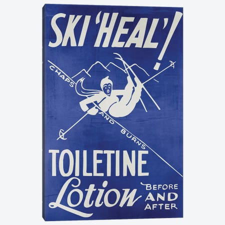 Ski Heal Chaps & Burns Lotion Canvas Print #VAC2002} by Vintage Apple Collection Canvas Art Print