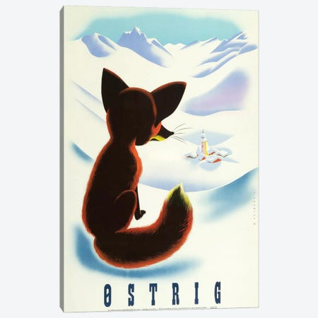 Ski Ostrig Fox, 1947 Canvas Print #VAC2004} by Vintage Apple Collection Canvas Artwork