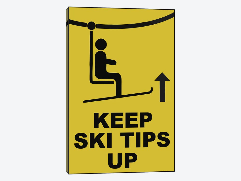 Ski Tips by Vintage Apple Collection 1-piece Canvas Print