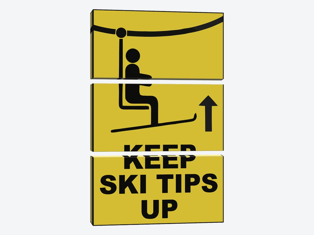 Ski Tips 3-piece Art Print