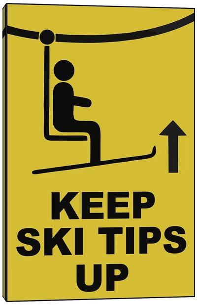 Ski Tips Canvas Art Print