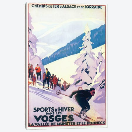 Skiing III Canvas Print #VAC2006} by Vintage Apple Collection Canvas Art