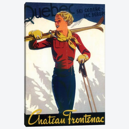 Skiing IV Canvas Print #VAC2007} by Vintage Apple Collection Canvas Art