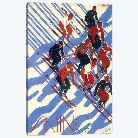 Skiing VIII Canvas Print #VAC2010} by Vintage Apple Collection Canvas Art