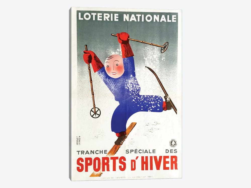 Sports d'Hiver II 1-piece Canvas Wall Art