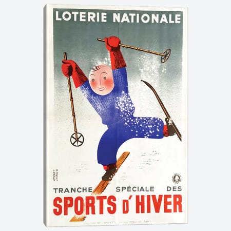 Sports d'Hiver II Canvas Print #VAC2031} by Vintage Apple Collection Canvas Art