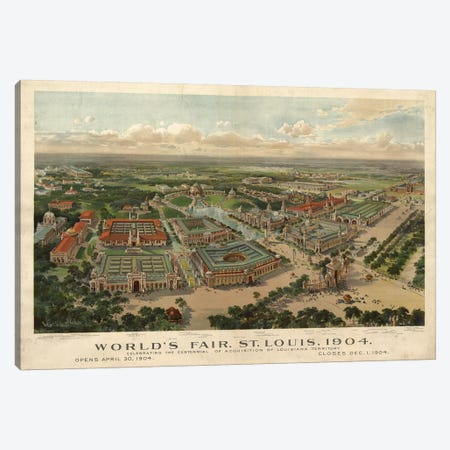 St. Louis World's Fair, 1904 Canvas Print #VAC2034} by Vintage Apple Collection Art Print