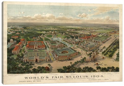 St. Louis World's Fair, 1904 Canvas Art Print