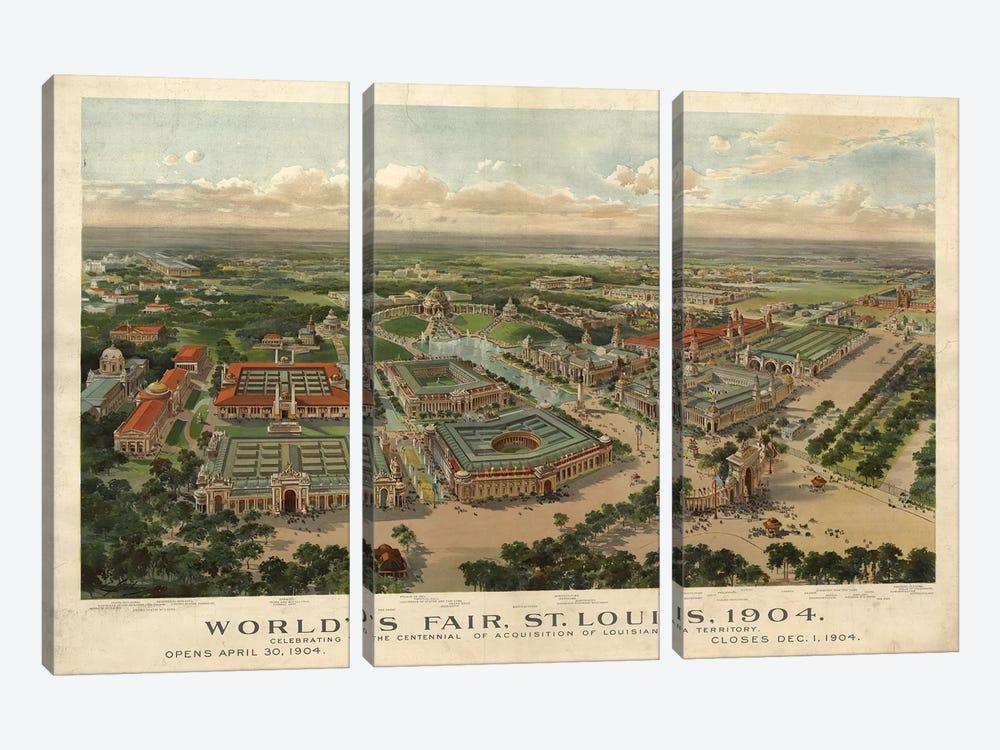 St. Louis World's Fair, 1904 by Vintage Apple Collection 3-piece Art Print