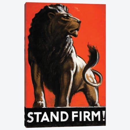 Stand Firm! Canvas Print #VAC2035} by Vintage Apple Collection Canvas Print