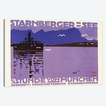 Starnberger See 3-Piece Canvas #VAC2036} by Vintage Apple Collection Canvas Print