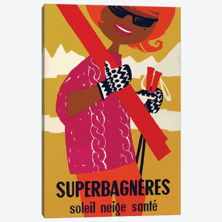 Superbagnères Resort, Mod Canvas Print #VAC2040} by Vintage Apple Collection Canvas Art Print