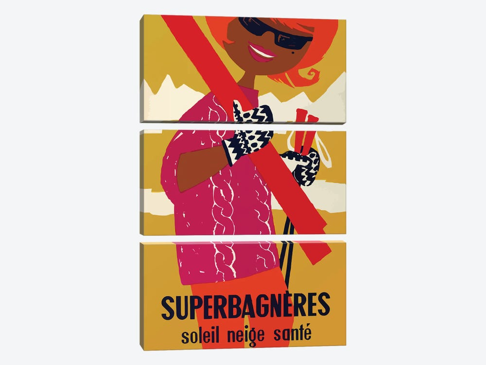 Superbagnères Resort, Mod by Vintage Apple Collection 3-piece Canvas Wall Art