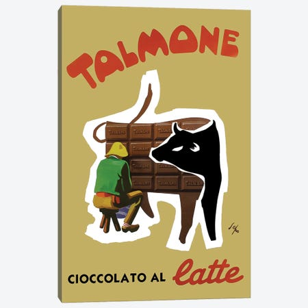 Talmone Milk Chocolate Canvas Print #VAC2045} by Vintage Apple Collection Canvas Wall Art