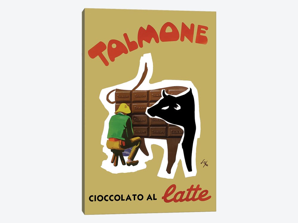 Talmone Milk Chocolate by Vintage Apple Collection 1-piece Canvas Print