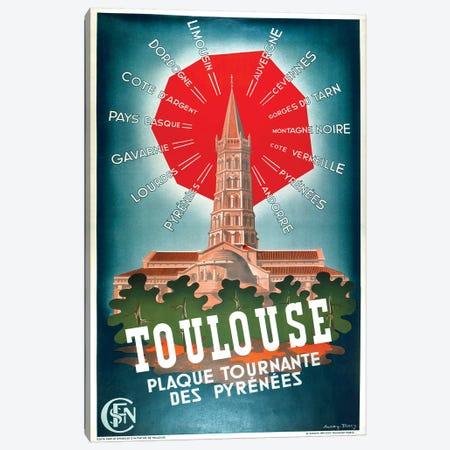 Toulouse, Plaque Tournante des Pyrenees Canvas Print #VAC2072} by Vintage Apple Collection Canvas Artwork