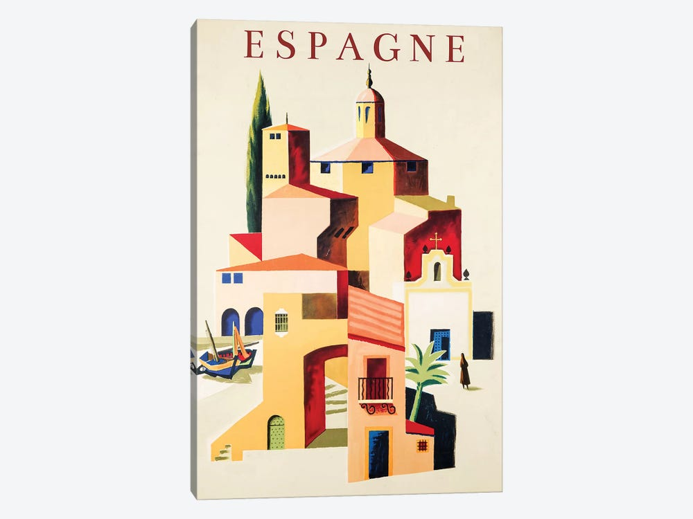 Travel Espagne by Vintage Apple Collection 1-piece Art Print