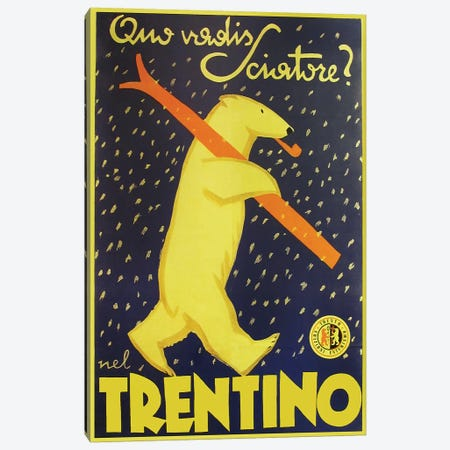 Trentino, Yellow Canvas Print #VAC2081} by Vintage Apple Collection Canvas Print
