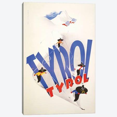 Tyrol Ski Canvas Print #VAC2084} by Vintage Apple Collection Canvas Artwork