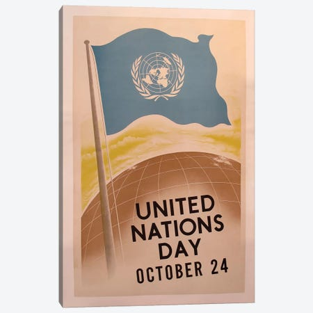 United Nations Day Canvas Print #VAC2093} by Vintage Apple Collection Canvas Artwork
