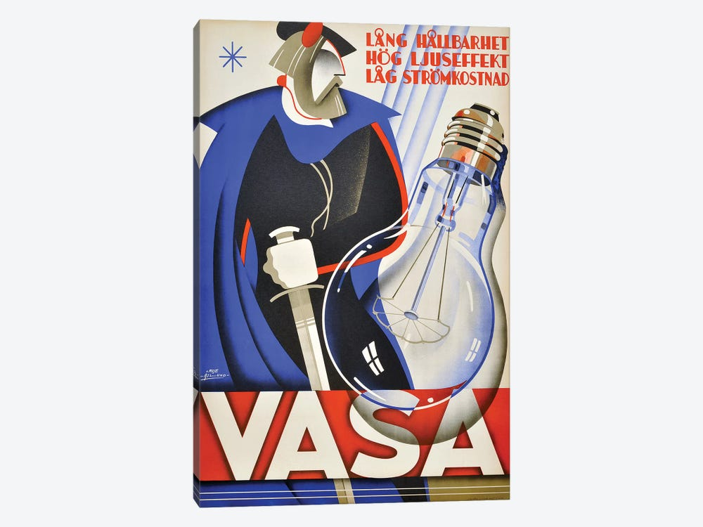 Vasa Lightbulb by Vintage Apple Collection 1-piece Canvas Art Print